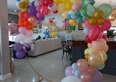 Colour splash balloon ring